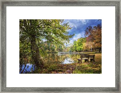 Afternoon Reflections Framed Print by Debra and Dave Vanderlaan