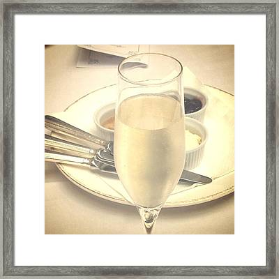 Afternoon Tea With Champagne Framed Print by In Plain Sight