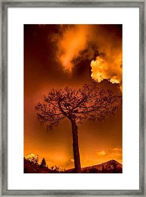 Against A Colored Sky Framed Print by John Haldane