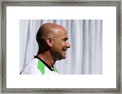 Agassi Smile Framed Print by Anne Babineau