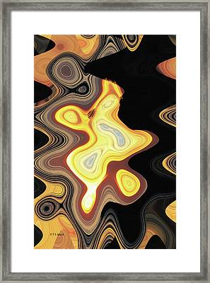 Agate Beach Abstract Framed Print by Tom Janca