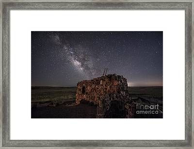 Agate House At Night Framed Print by Melany Sarafis