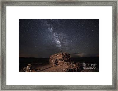 Agate House At Night2 Framed Print by Melany Sarafis