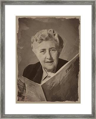 Agatha Christie 3 Framed Print by Afterdarkness