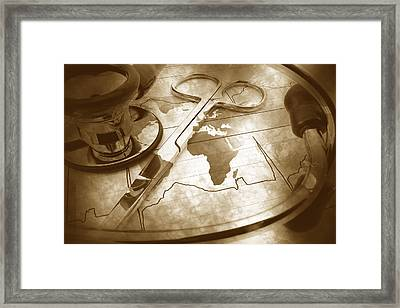 Aged Medical Tools Framed Print by Phill Petrovic