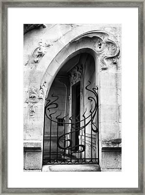 Agen Art Nouveau Gate And Door Framed Print by Georgia Fowler