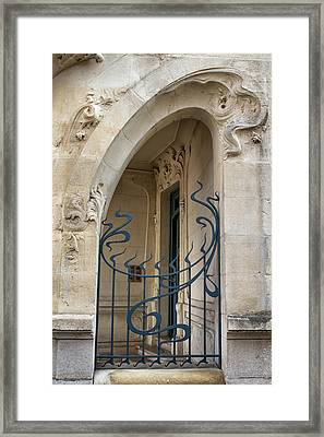 Agen Art Nouveau Gate Framed Print by Georgia Fowler