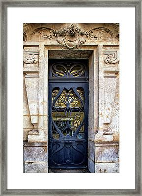 Agen France Blue Door Framed Print by Georgia Fowler
