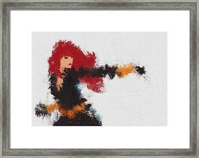 Agent Red Framed Print by Miranda Sether