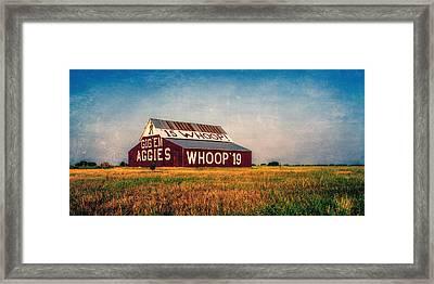 Aggie Barn 2015 Framed Print by Joan Carroll