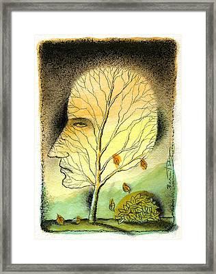 Aging Framed Print by Leon Zernitsky