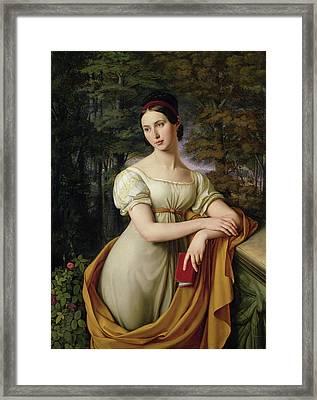 Agnes Rauch Framed Print by Wilhelm Schadow