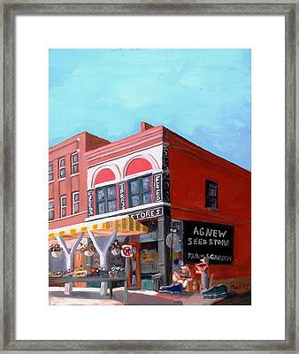 Agnew Feed And Seed  Framed Print by Todd Bandy