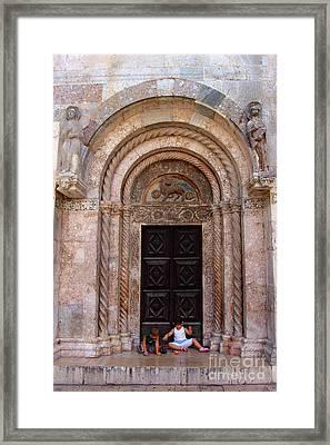 Agnus Dei - St. Anastasia Zadar Framed Print by Jasna Dragun