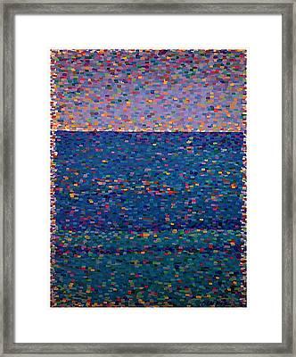 Agua Azul Framed Print by Denise Landis