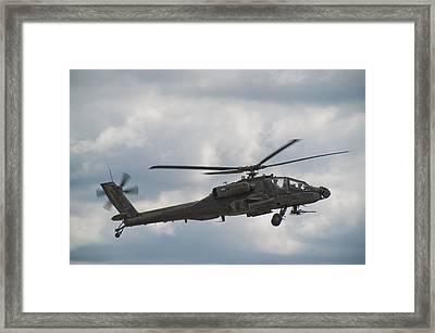 Ah-64 Apache Framed Print by Sebastian Musial