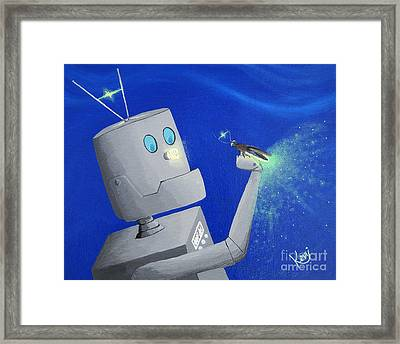 A.i. And The Firefly Framed Print by Kerri Ertman