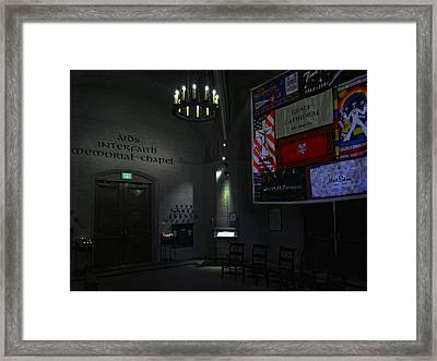Aids Interfaith Memorial Chapel - San Francisco Framed Print by Daniel Hagerman