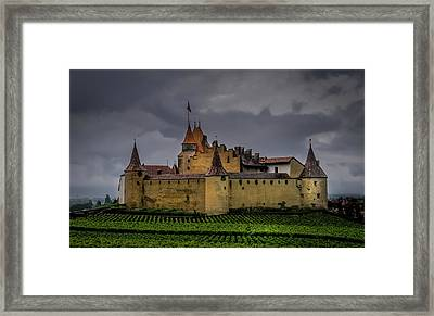 Aigle,switzerland.colour. Framed Print by Robert Brown