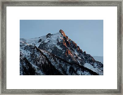 Aiguille Du Midi Chamonix French Alps Framed Print by Pierre Leclerc Photography