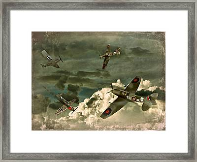 Air Attack Framed Print by Steven Agius
