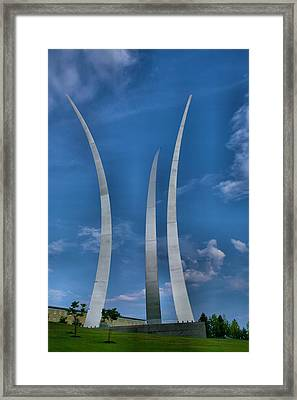 Air Force Memorial Iv Framed Print by Steven Ainsworth