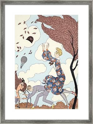 Air Framed Print by Georges Barbier