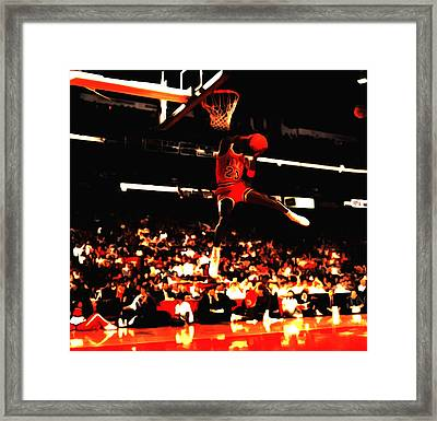 Air Jordan 1988 Slam Dunk Contest 8c Framed Print by Brian Reaves