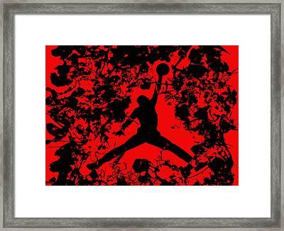Air Jordan 1b Framed Print by Brian Reaves
