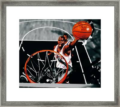 Air Jordan Above The Rim Framed Print by Brian Reaves