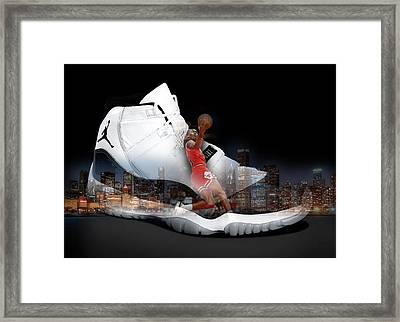 Air Jordan Chicago Framed Print by Britten Adams
