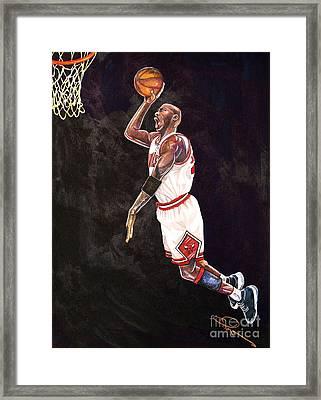 Air Jordan Framed Print by Dave Olsen