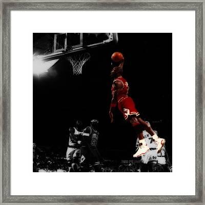 Air Jordan Glide Framed Print by Brian Reaves