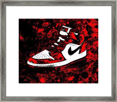 Air Jordan I Notorious Framed Print by Brian Reaves