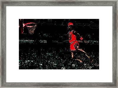 Air Jordan In Flight 3g Framed Print by Brian Reaves