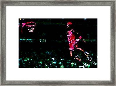Air Jordan In Flight Thermal Framed Print by Brian Reaves