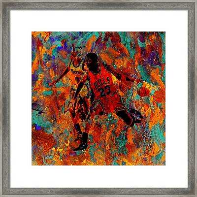 Air Jordan In The Paint 02a Framed Print by Brian Reaves