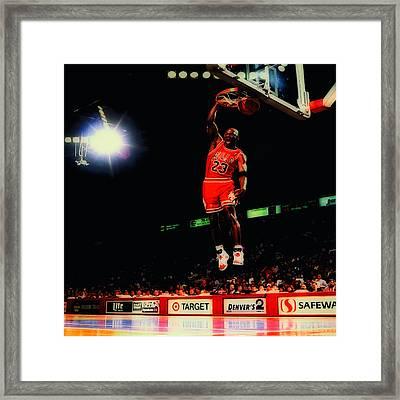 Air Jordan Nasty Slam Framed Print by Brian Reaves