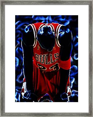 Air Jordan Never Quit Framed Print by Brian Reaves