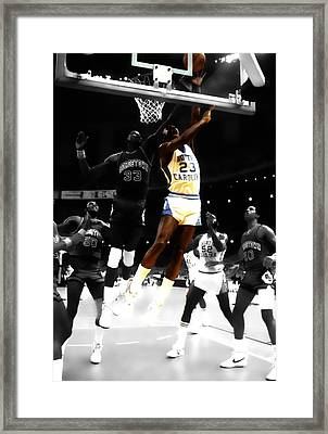 Air Jordan On Patrick Ewing Framed Print by Brian Reaves