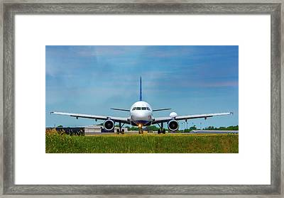 Airbus A320 Framed Print by Guy Whiteley