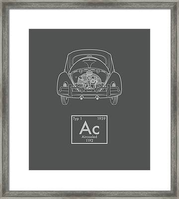 Aircooled Element - Beetle Framed Print by Ed Jackson