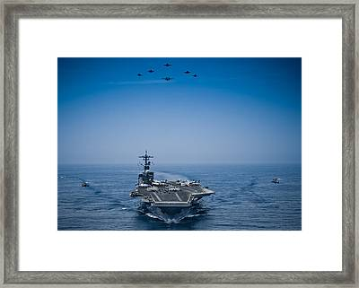 Aircraft From Carrier Air Wing Framed Print by Celestial Images