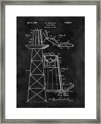 Airport Beacon Patent Framed Print by Dan Sproul
