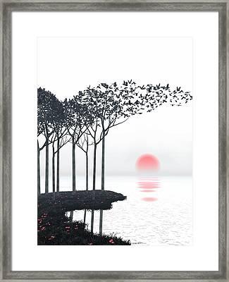 Curious3d Framed Print featuring the digital art Aki by Cynthia Decker