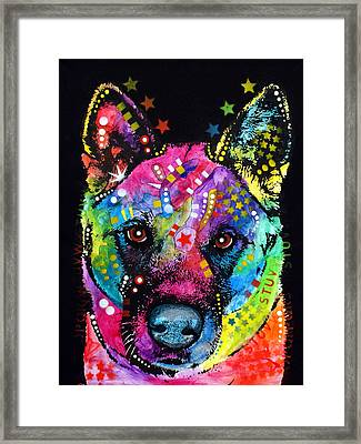 Akita 1 Framed Print by Dean Russo