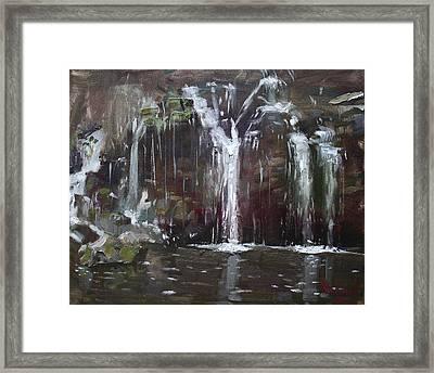Akron Falls Framed Print by Ylli Haruni
