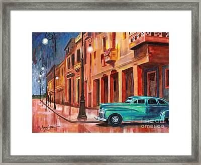 Al Caer La Noche Framed Print by Maria Arango
