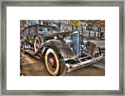 Al Capone's Packard Framed Print by Nicholas  Grunas