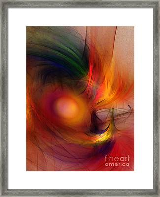 Al Forno Framed Print by Karin Kuhlmann